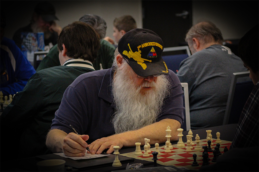 Jim Hollingsworth was crowned Texas Armed Forces Chess Champion in 2018.