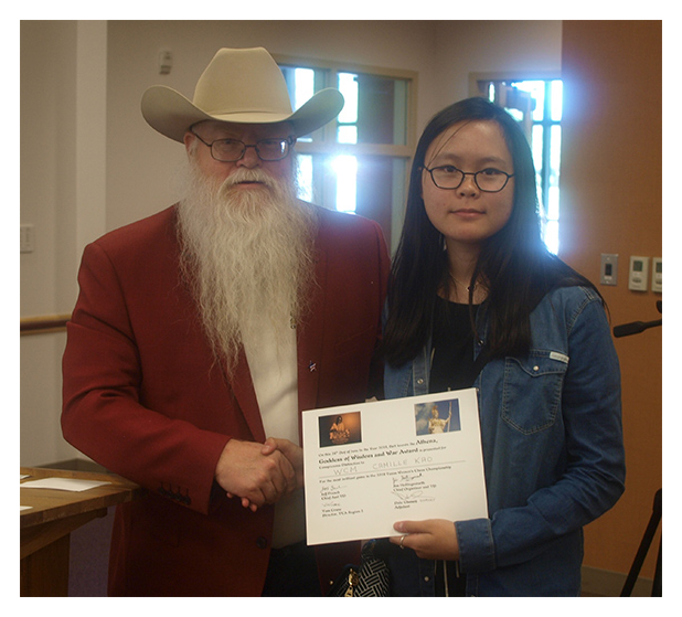 Jim Hollingsworth with Woman Candidate Master and National Chess Expert Camille Kao