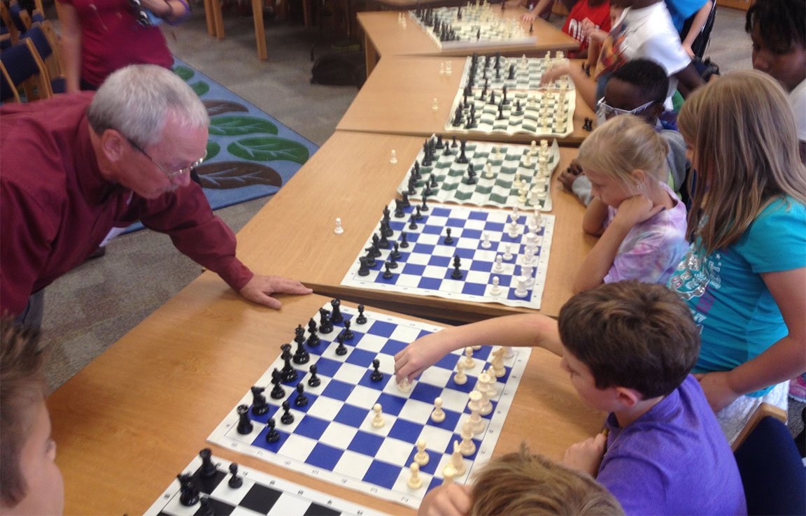 BOBBY CURTIS TEACHES CHESS AT FOUR SCHOOLS