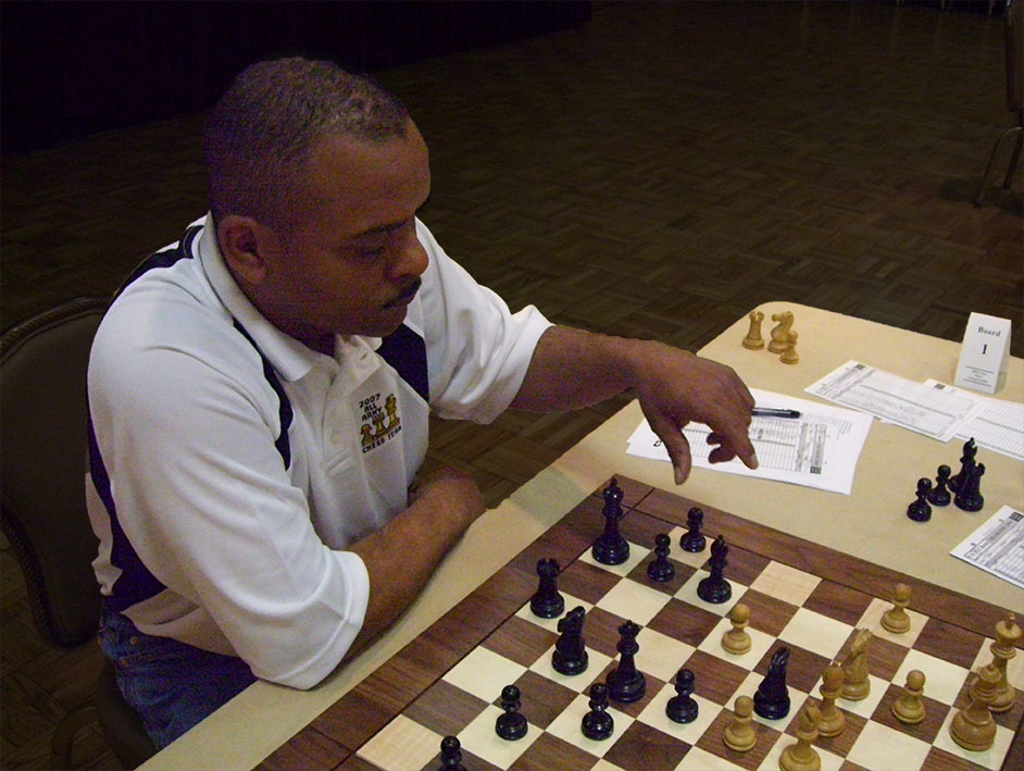 DARRYL WEST DISTINGUISHED HIMSELF AS ONE OF THE TOUGHEST CHESS PLAYERS IN THE U.S. ARMY (2007, 2008) - PHOTO BY JIM HOLLINGSWORTH