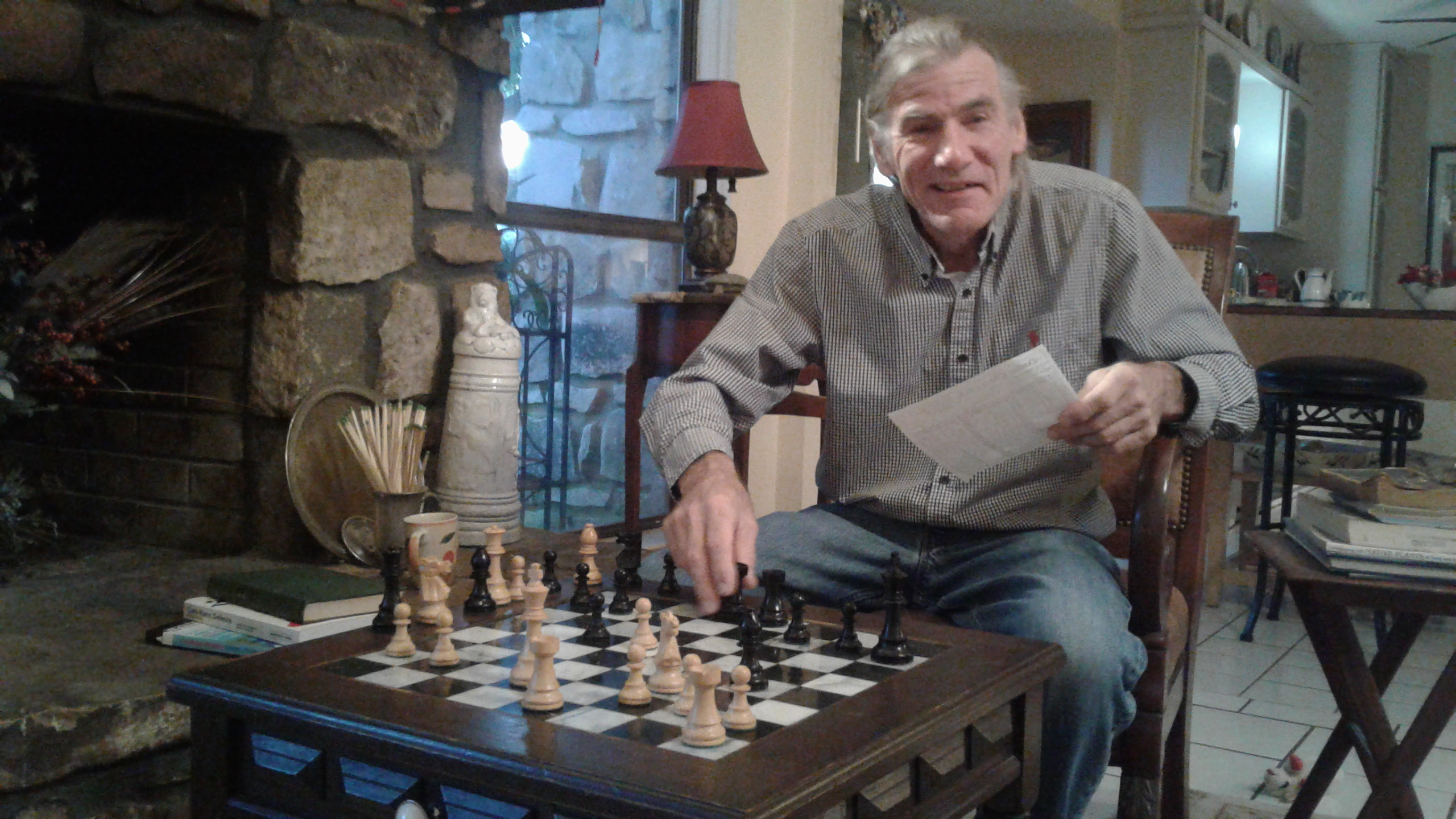 RUSS HEISE IS RANKED IN THE 93RD PERCENTILE OF ALL TEXAS CHESS PLAYERS - PHOTO BY CAROL HEISE